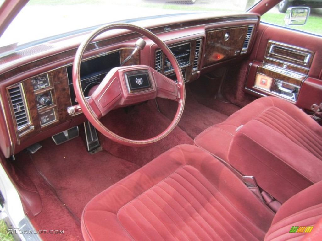 Burgundy Interior 1990 Cadillac Brougham D Elegance Photo