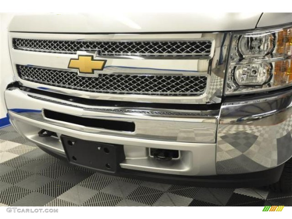 2012 Silverado 1500 LS Regular Cab 4x4 - Silver Ice Metallic / Dark Titanium photo #5