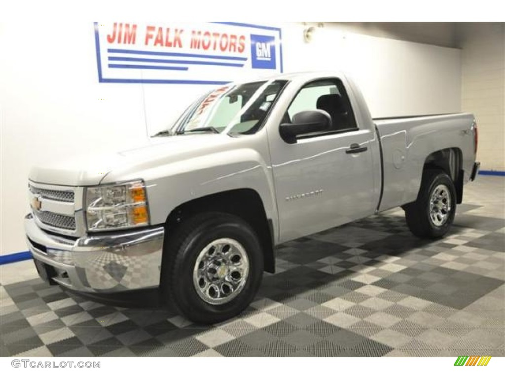 2012 Silverado 1500 LS Regular Cab 4x4 - Silver Ice Metallic / Dark Titanium photo #26