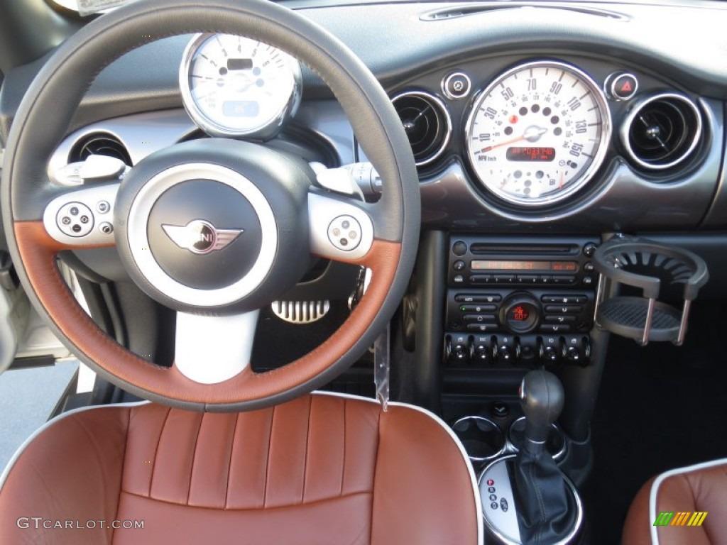 2008 Mini Cooper S Convertible Sidewalk Edition Malt Brown English Leather Dashboard Photo 70297001