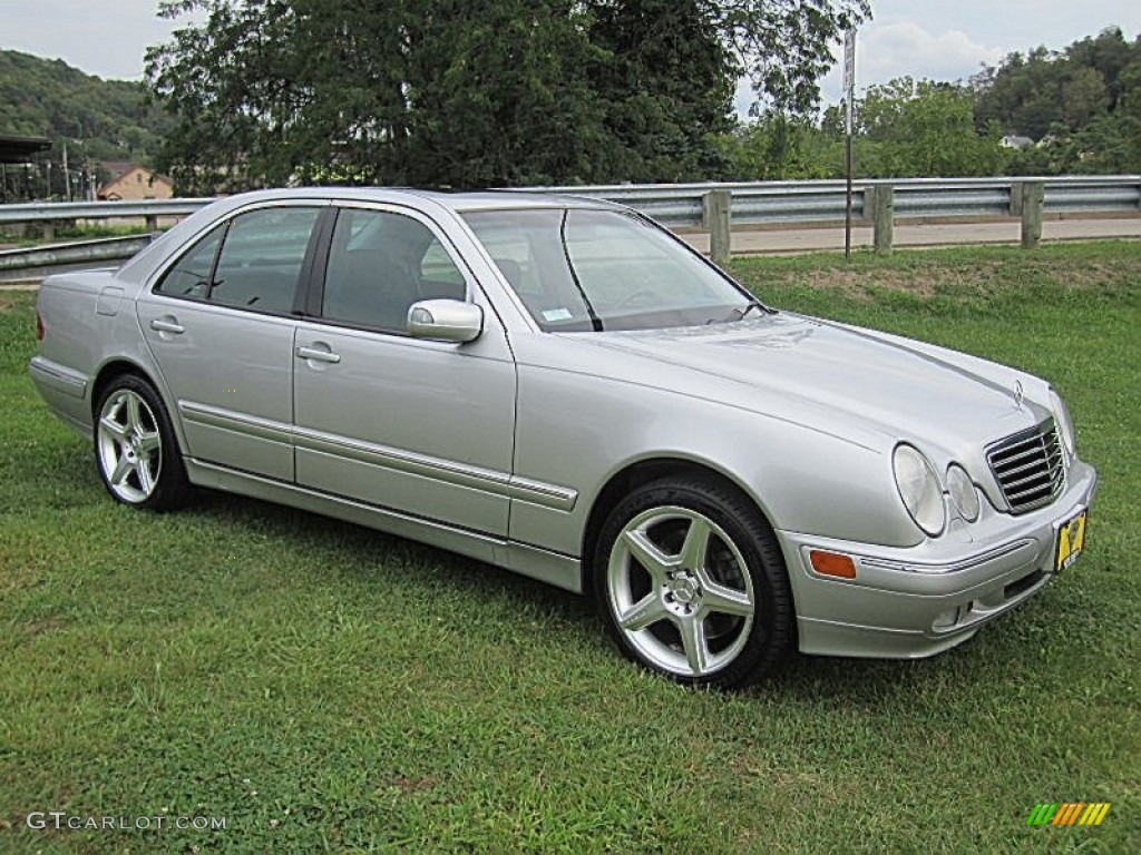 Brilliant silver metallic 2000 mercedes benz e 430 4matic for Mercedes benz silver