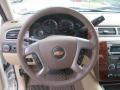 Light Cashmere/Dark Cashmere 2013 Chevrolet Silverado 1500 LTZ Crew Cab 4x4 Steering Wheel