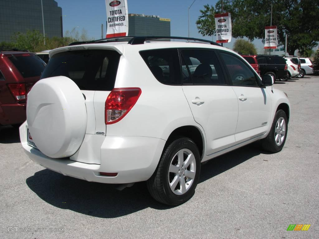 2007 blizzard white pearl toyota rav4 limited 4wd 7016227. Black Bedroom Furniture Sets. Home Design Ideas