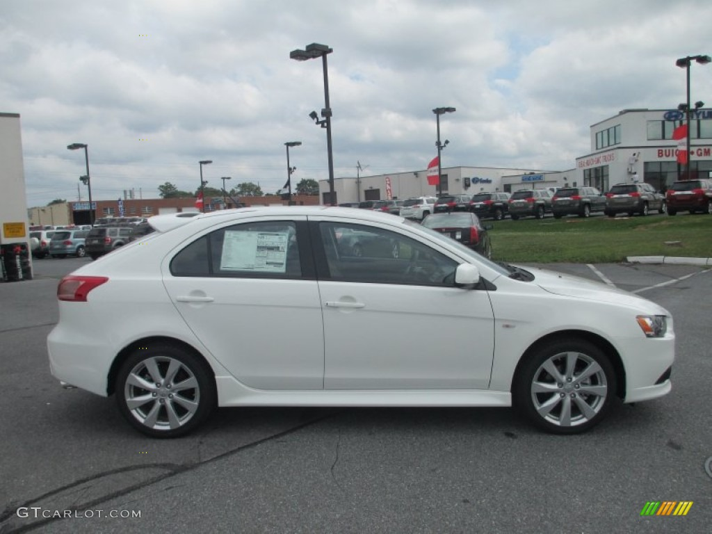 Wicked White Metallic 2013 Mitsubishi Lancer Sportback Gt Exterior Photo 70319571 Gtcarlot Com