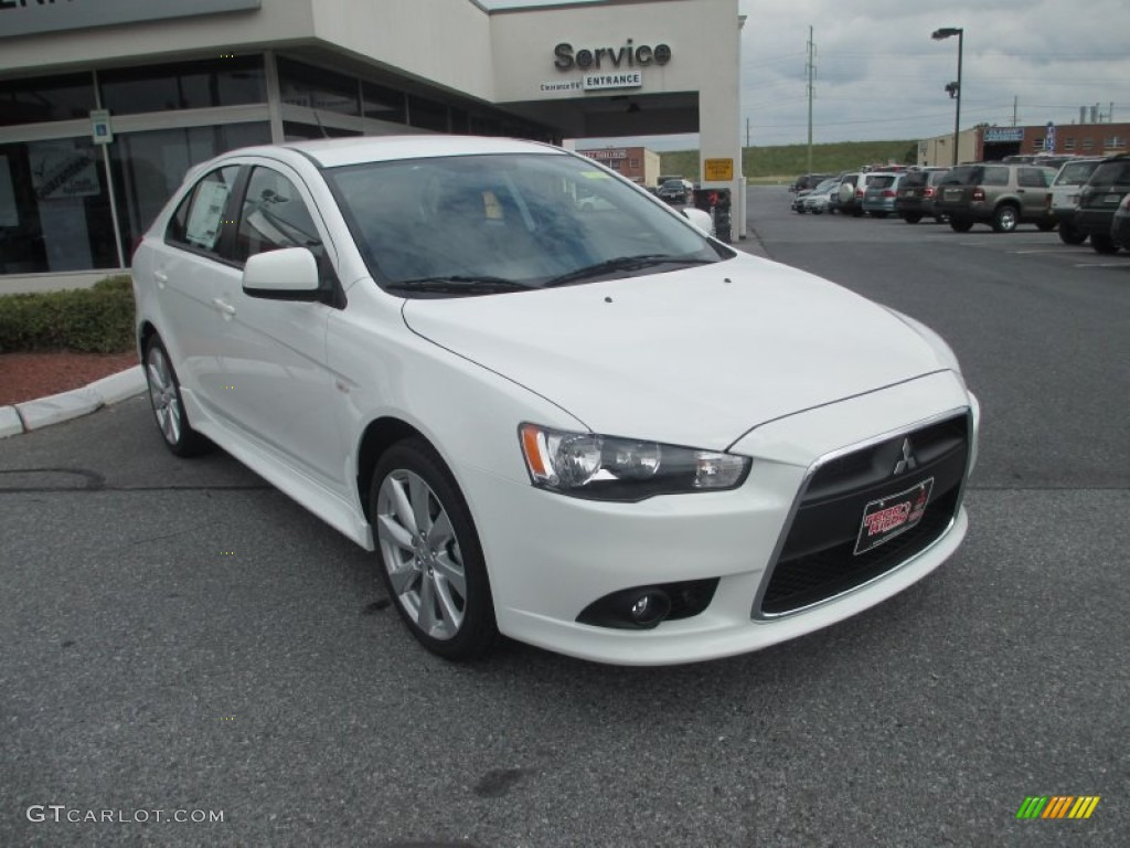 Wicked White Metallic 2013 Mitsubishi Lancer Sportback Gt