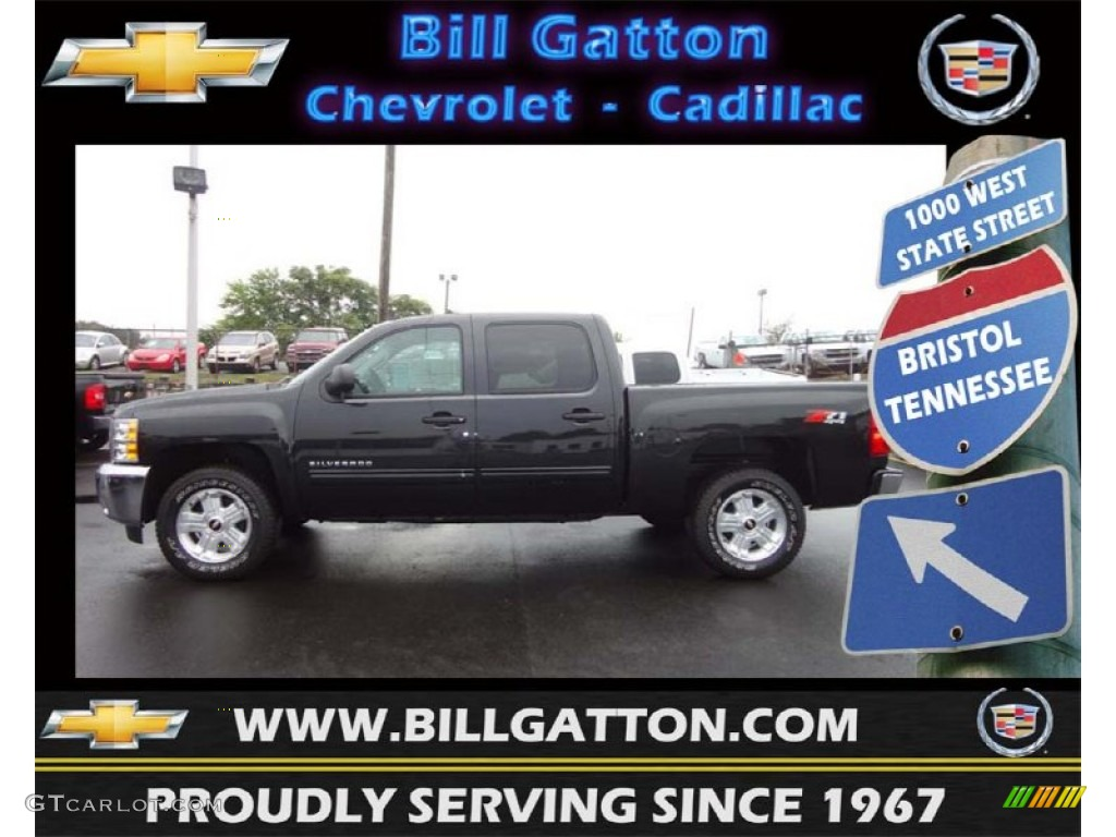2012 Silverado 1500 LT Crew Cab 4x4 - Black Granite Metallic / Ebony photo #1