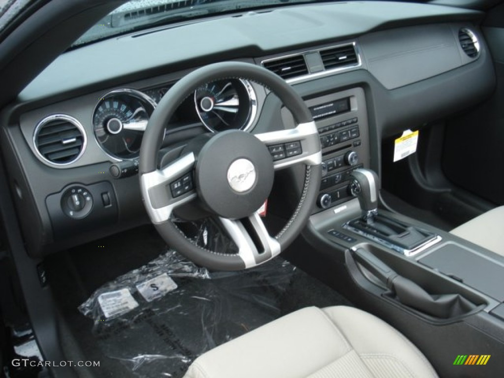 Stone Interior 2013 Ford Mustang V6 Convertible Photo
