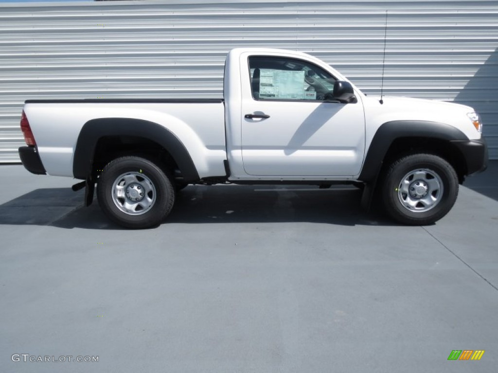 super white 2013 toyota tacoma regular cab 4x4 exterior photo 70342827. Black Bedroom Furniture Sets. Home Design Ideas