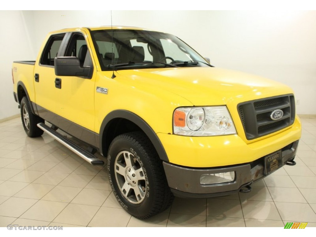 blazing yellow 2004 ford f150 fx4 supercrew 4x4 exterior. Black Bedroom Furniture Sets. Home Design Ideas