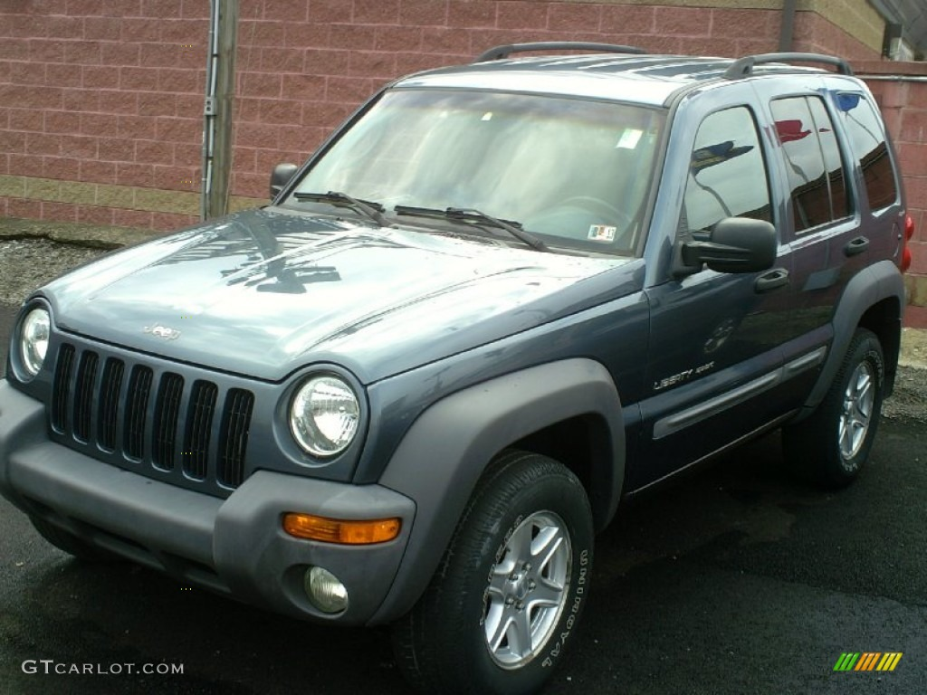 steel blue pearlcoat 2002 jeep liberty sport 4x4 exterior. Black Bedroom Furniture Sets. Home Design Ideas