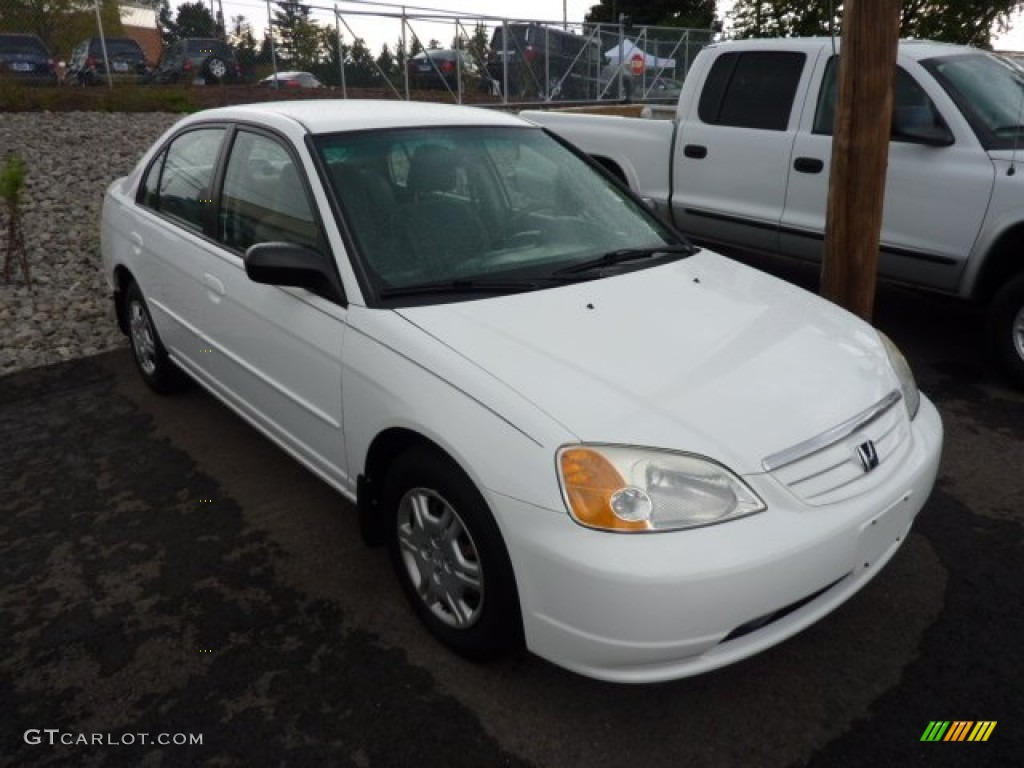 2002 taffeta white honda civic lx sedan 70353051 car color galleries. Black Bedroom Furniture Sets. Home Design Ideas
