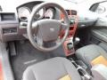 Dark Slate Gray/Orange 2009 Dodge Caliber Interiors