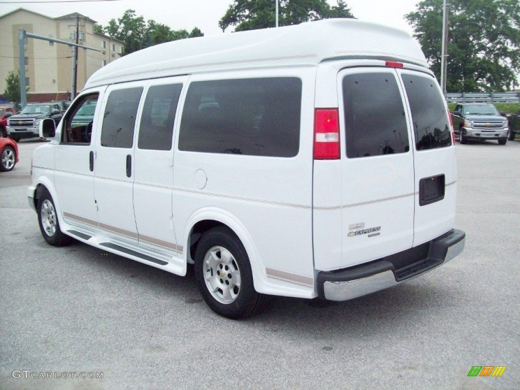 Summit white 2012 chevrolet express 1500 passenger conversion van exterior photo 70369998