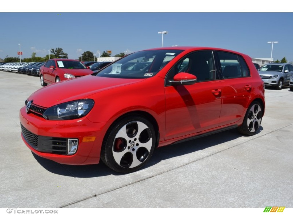 2013 Tornado Red Volkswagen GTI 4 Door #70352681 | GTCarLot.com - Car Color Galleries