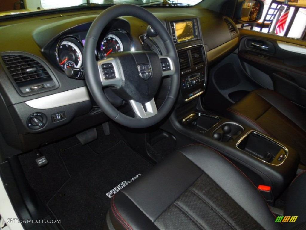 Black Interior 2013 Dodge Grand Caravan R/T Photo #70399764 | GTCarLot ...