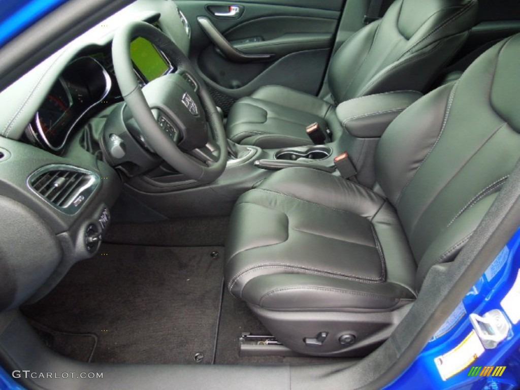 Black Interior 2013 Dodge Dart Limited Photo 70401561