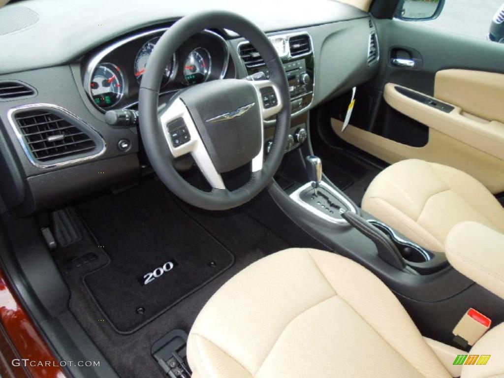 Black light frost beige interior 2013 chrysler 200 touring sedan photo 70402482 for 2016 chrysler 200 interior lights