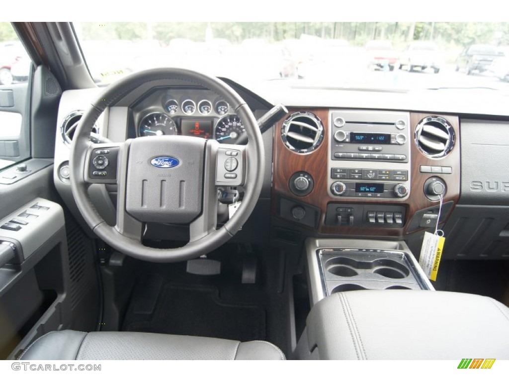 2012 Ford F350 Super Duty Lariat Crew Cab 4x4 Dually Black Dashboard Photo #70405911 | GTCarLot.com