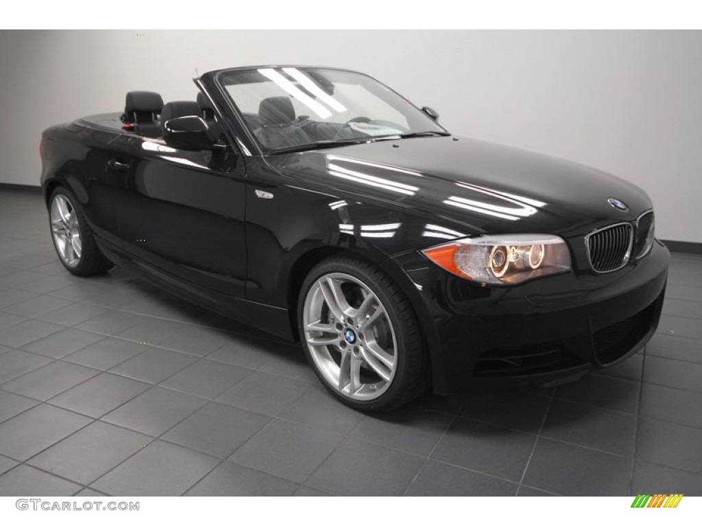 2013 jet black bmw 1 series 135i convertible 70407265 car color galleries - Black bmw 1 series coupe ...