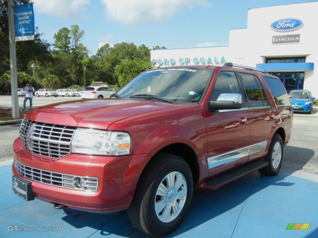 Vivid Red Metallic Lincoln Navigator