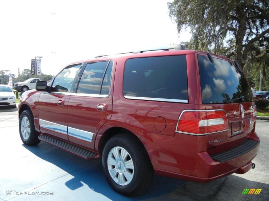 2007 Navigator Luxury - Vivid Red Metallic / Charcoal photo #3