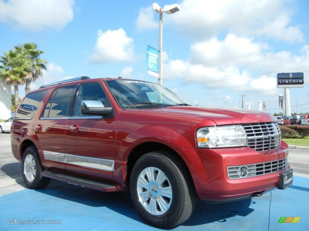 2007 Navigator Luxury - Vivid Red Metallic / Charcoal photo #7