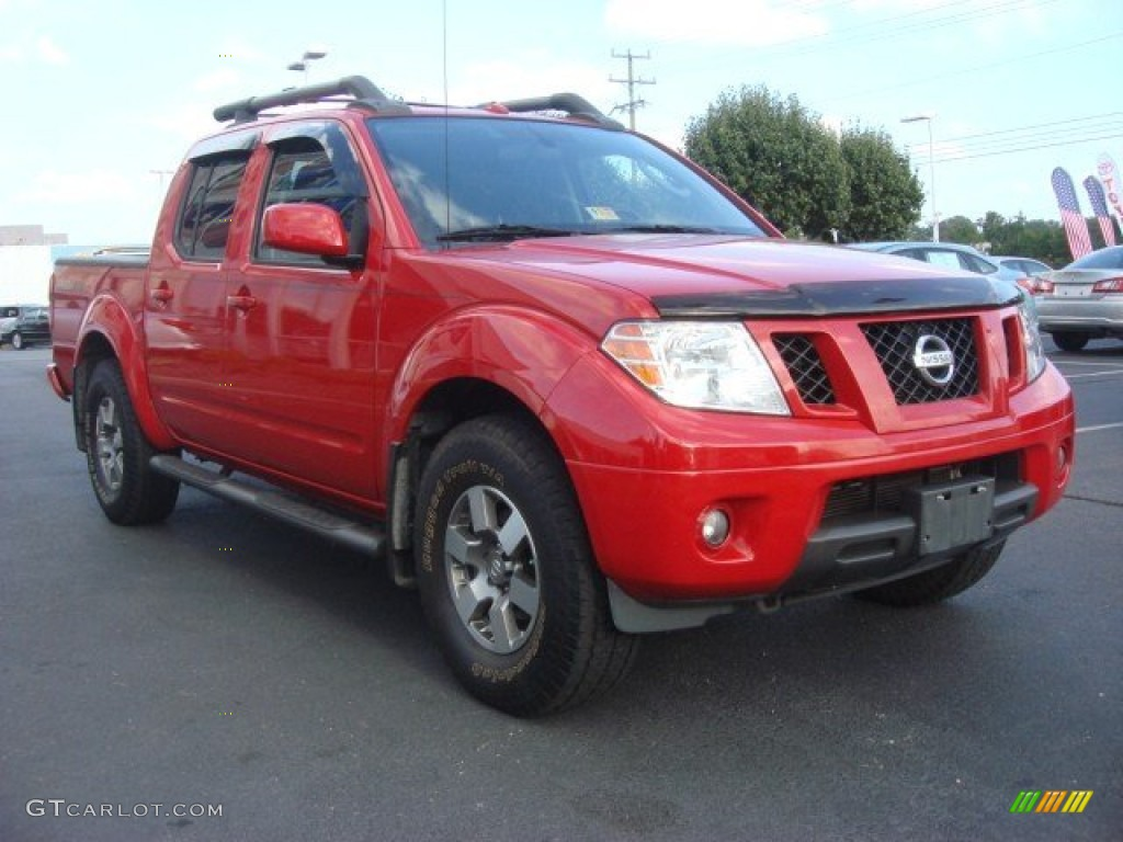 2010 red alert nissan frontier pro 4x crew cab 4x4 70407531 car color galleries. Black Bedroom Furniture Sets. Home Design Ideas