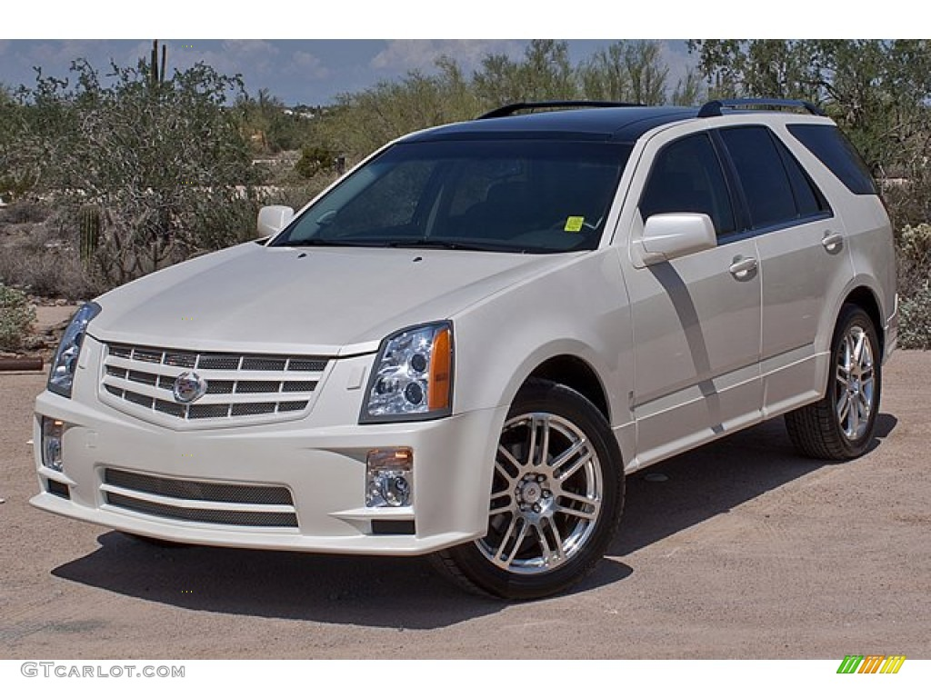 2008 White Diamond Tricoat Cadillac Srx 4 V6 Awd 70406810 Car Color Galleries