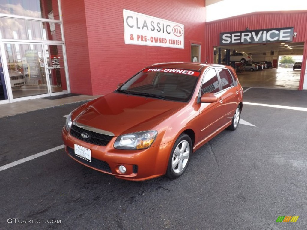 2008 spectra 5 sx wagon electric orange black photo 1