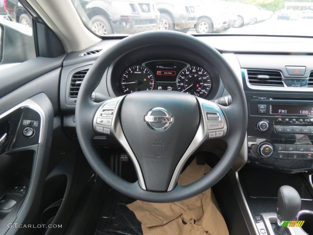 2013 Nissan Altima 2.5 S Charcoal Steering Wheel Photo #70446073