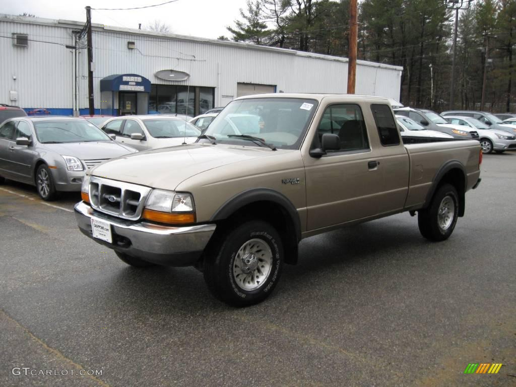 1999 ranger xlt extended cab 4x4 harvest gold metallic medium prairie tan photo