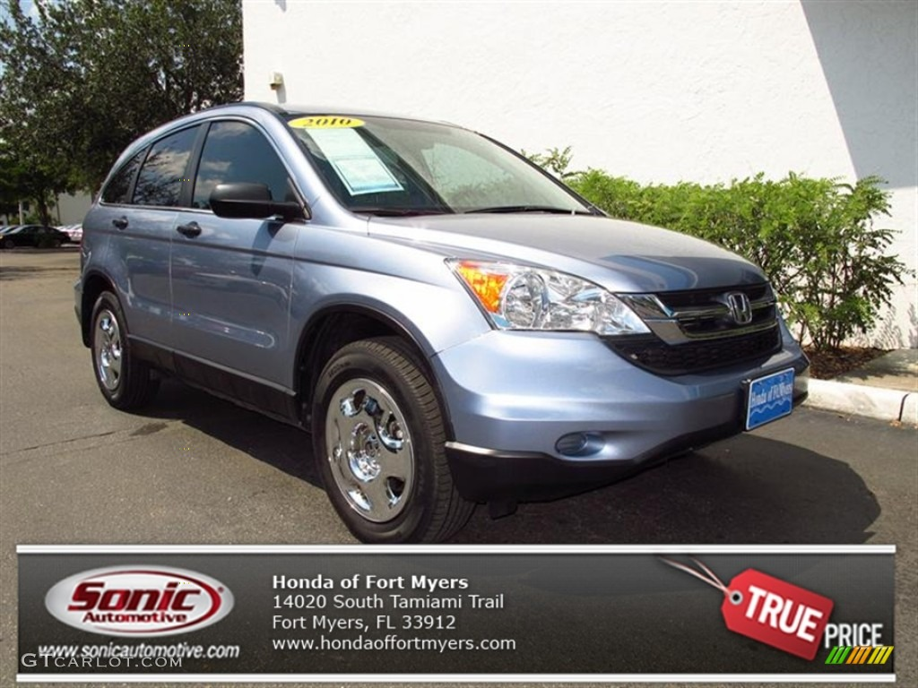 2010 CR-V LX - Glacier Blue Metallic / Gray photo #1