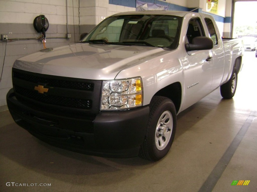 2012 Silverado 1500 Work Truck Extended Cab - Silver Ice Metallic / Dark Titanium photo #1