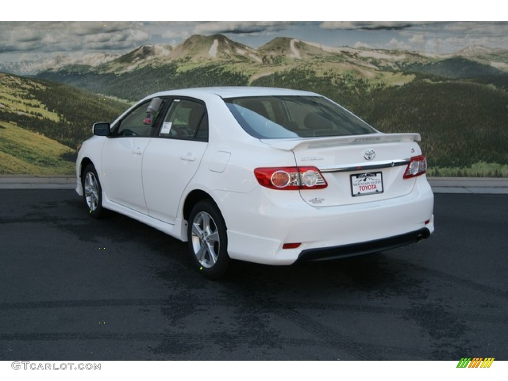 2013 super white toyota corolla s 70406668 photo 2