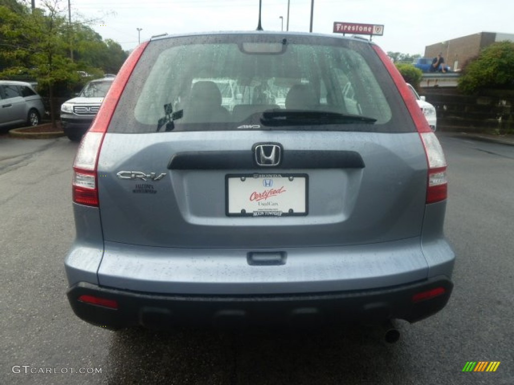 2009 CR-V LX 4WD - Glacier Blue Metallic / Gray photo #4