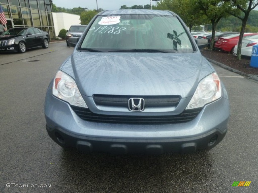 2009 CR-V LX 4WD - Glacier Blue Metallic / Gray photo #8