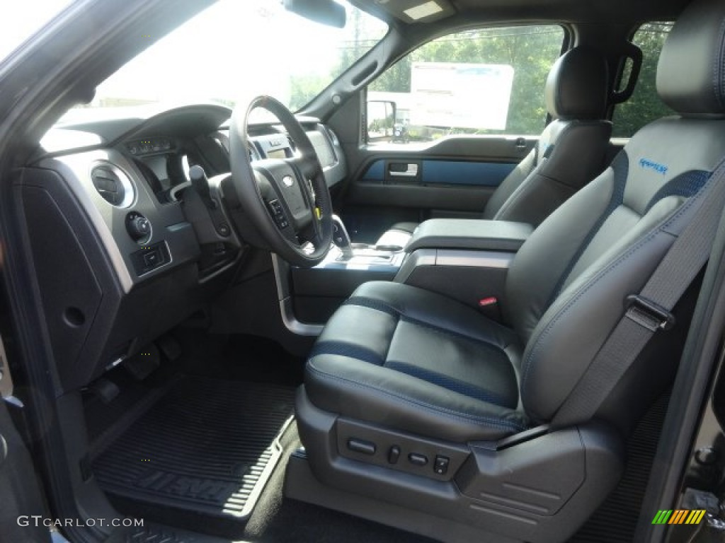 raptor black leathercloth with blue accent interior 2012 ford f150 svt raptor supercrew 4x4