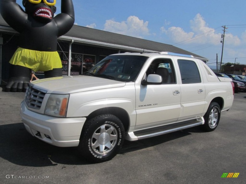 2002 escalade ext awd white diamond shale photo 1