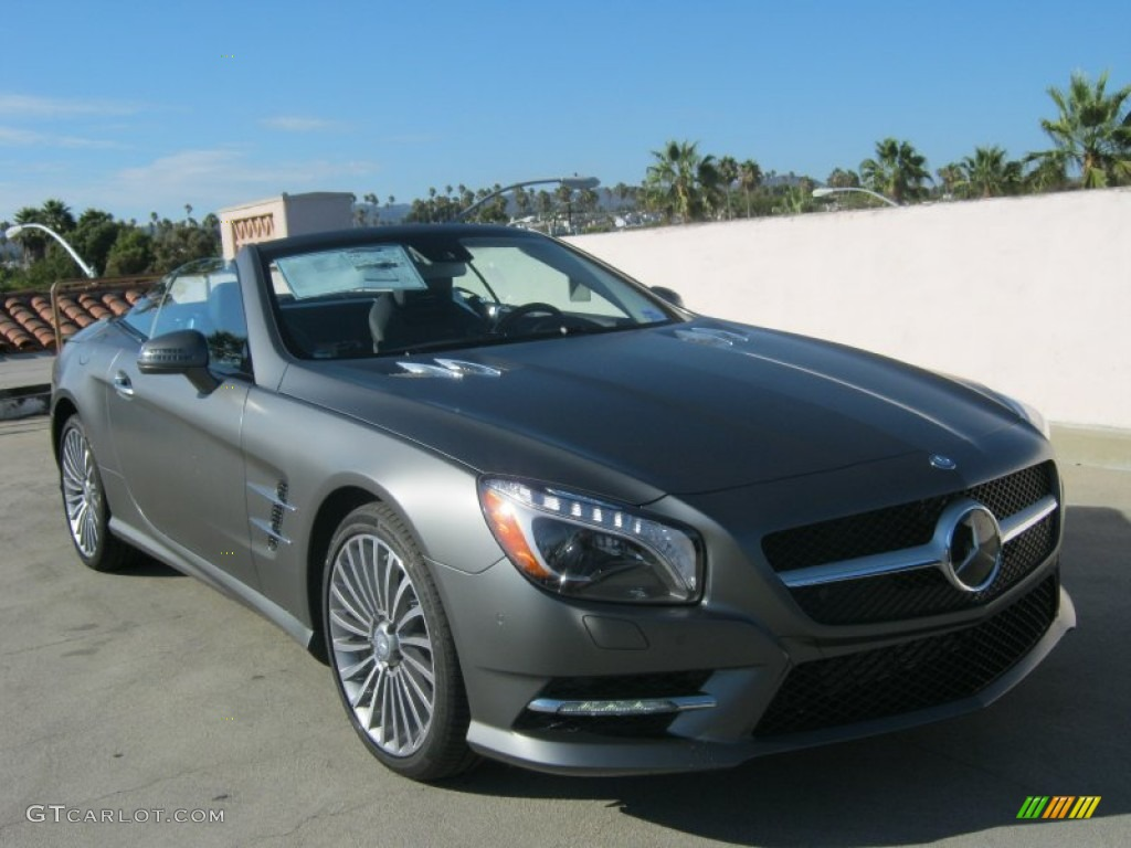 2013 matte shadow grey metallic mercedes benz sl 550 for Matte mercedes benz