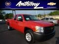 2013 Victory Red Chevrolet Silverado 1500 Work Truck Extended Cab 4x4  photo #1