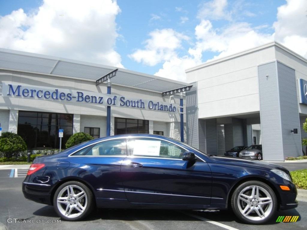 2013 lunar blue metallic mercedes benz e 350 coupe for Mercedes benz lunar blue