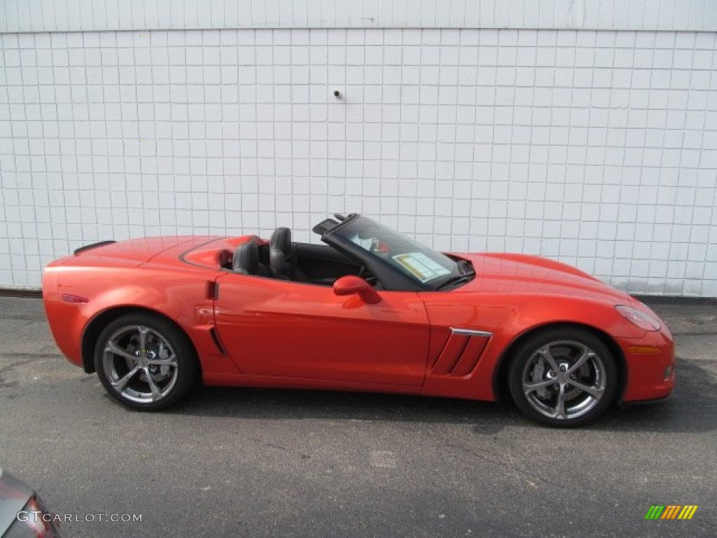 Inferno orange metallic 2012 chevrolet corvette grand sport convertible exterior photo 70527985
