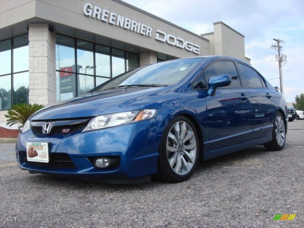 2010 dyno blue pearl honda civic si sedan 70540495. Black Bedroom Furniture Sets. Home Design Ideas