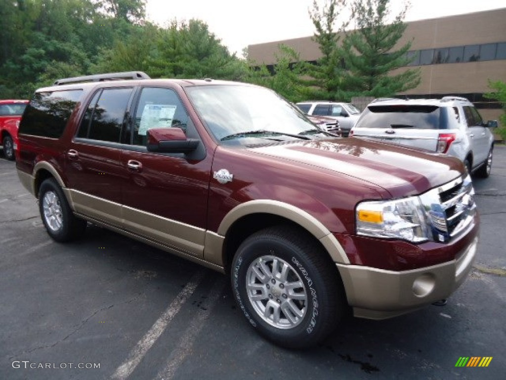 2012 autumn red metallic ford expedition el king ranch 4x4. Black Bedroom Furniture Sets. Home Design Ideas