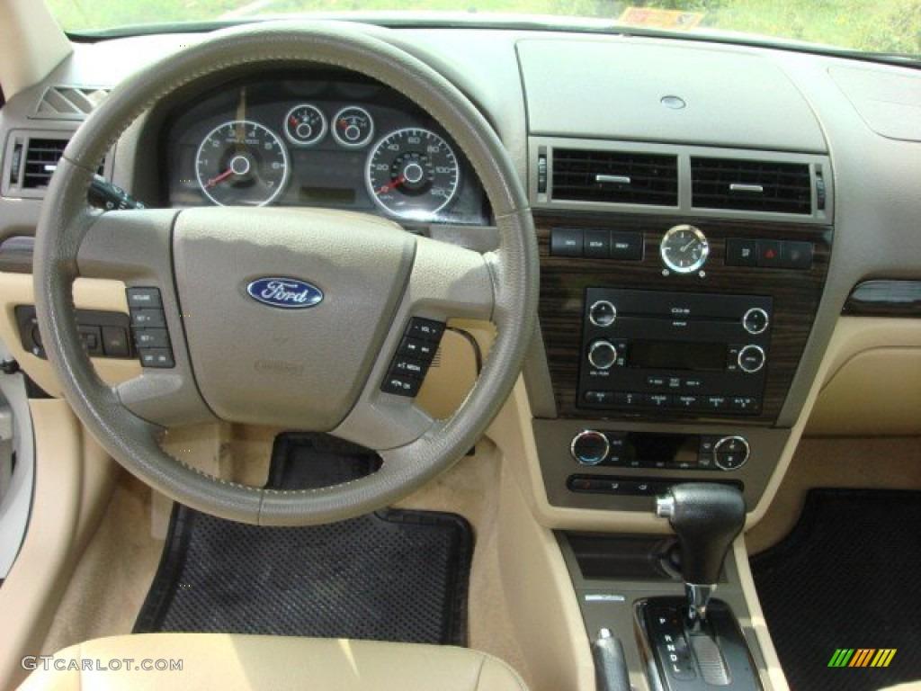 2008 Ford Fusion Sel V6 Medium Light Stone Dashboard Photo 70555900
