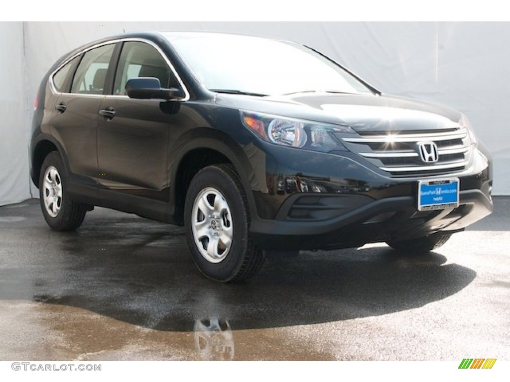 2012 CR-V LX - Crystal Black Pearl / Black photo #1