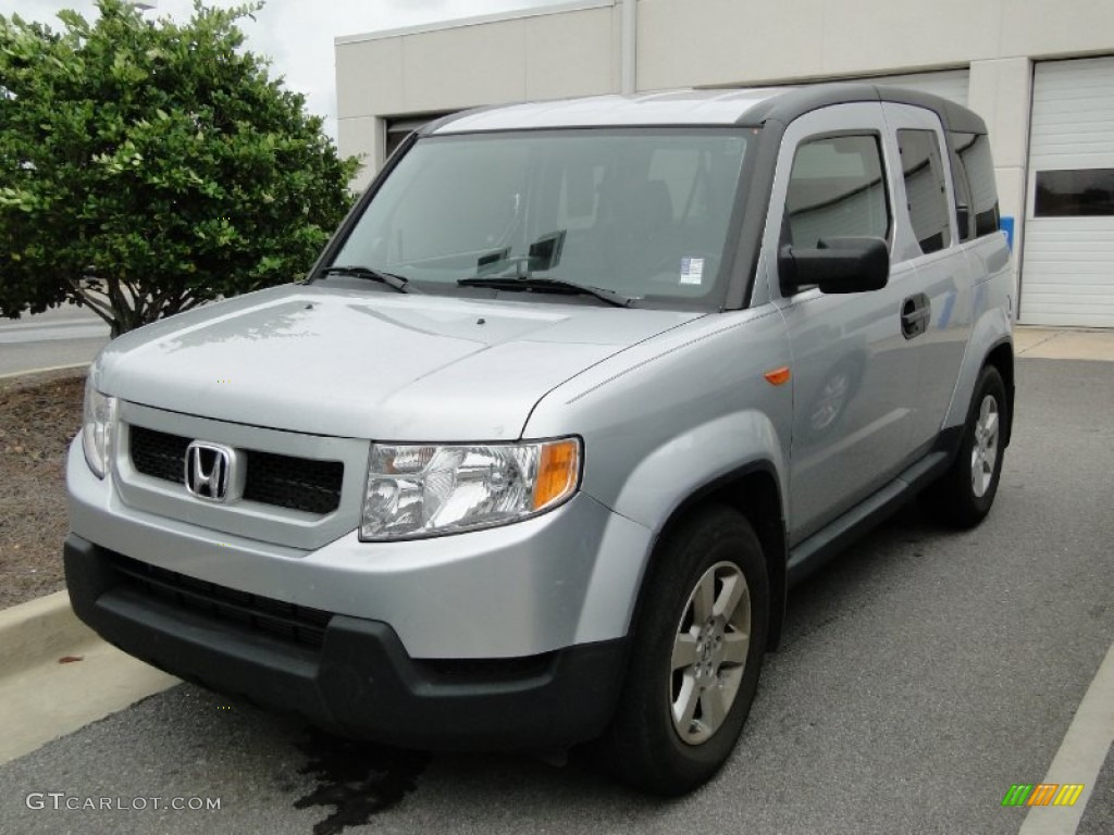 Alabaster Silver Metallic 2009 Honda Element Ex Exterior
