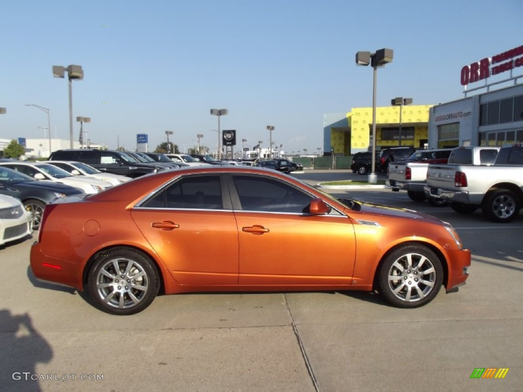 Hot Lava Orange 2008 Cadillac Cts Hot Lava Edition Sedan