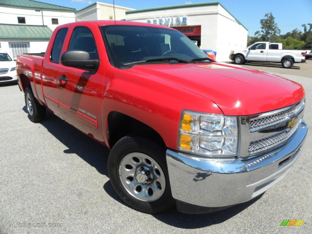 2012 Silverado 1500 LT Extended Cab - Victory Red / Ebony photo #1