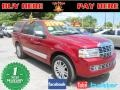 2007 Vivid Red Metallic Lincoln Navigator Ultimate #70570440